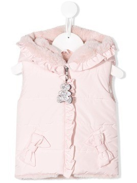 Lapin House hooded gilet - Pink
