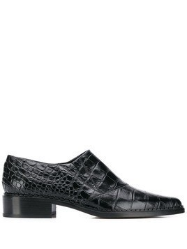 Vince Delmar croc-effect oxfords - Black
