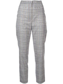 Milly slim checked trousers - Grey