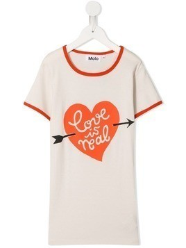 Molo TEEN Love is real T-shirt dress - White