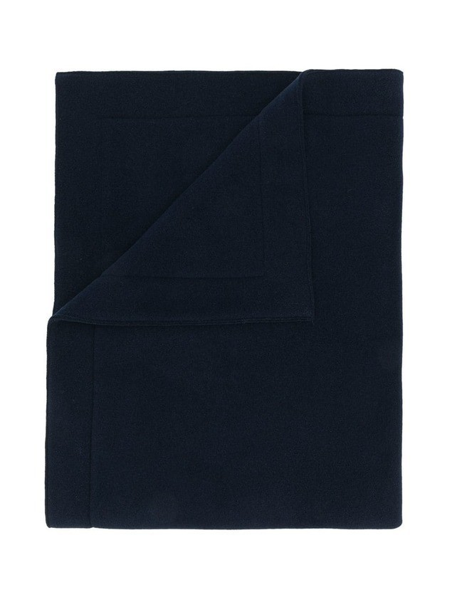 Il Gufo logo embroidered blanket - Blue