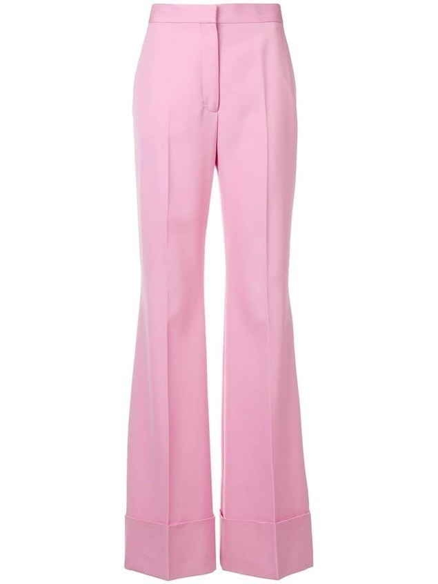 Stella McCartney high-waisted flared trousers - PINK