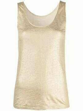 Majestic Filatures round-neck tank top - Gold