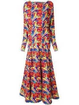 Manish Arora abstract print maxi dress - Multicolour