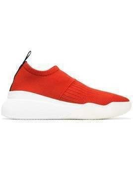 Stella McCartney red and white Loop sock sneakers