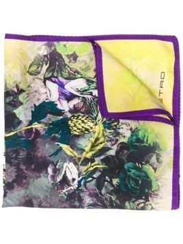 Etro Enchanted Forest pocket square - Yellow