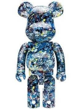 Medicom Toy paint splatter print bear - Blue