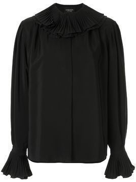 Giambattista Valli silk frilled collar blouse - Black