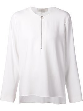 Stella McCartney zipped up neck top - White