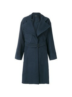 Isabel Marant belted trench coat - Blue