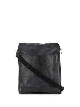 Guidi top zip messenger bag - Black