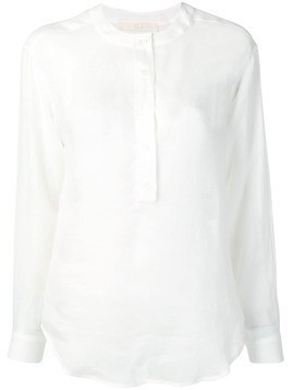 Tela sheer button-up blouse - White