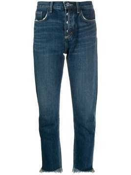 Current/Elliott straight-leg cropped jeans - Blue