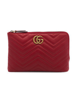 Gucci - Red Marmont 2.0 Leather Pouch - Damen - Leather - One Size