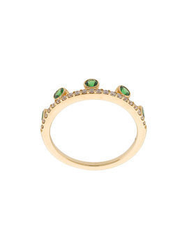 Khai Khai Tsavorite Crown ring - Metallic