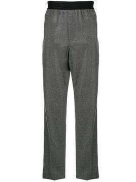 Helmut Lang logo waistband straight trousers - Grey