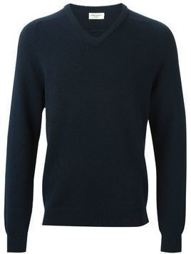 Saint Laurent v-neck sweater - Blue