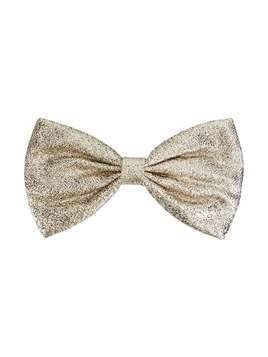 Hucklebones London bow hair clip - SILVER