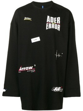 Ader Error logo printed jumper - Black