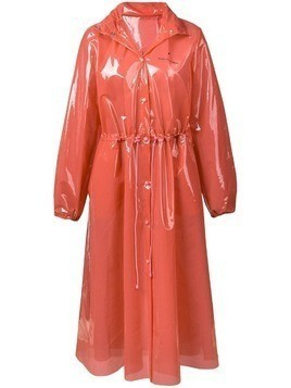 Marine Serre hooded PVC raincoat - Pink