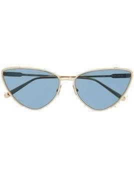 Salvatore Ferragamo cat-eye frame sunglasses - GOLD