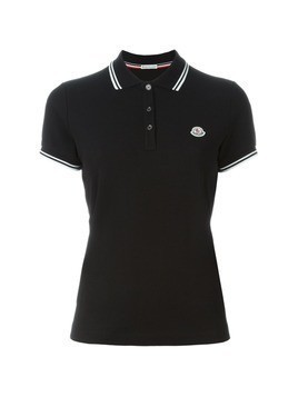Moncler logo polo shirt - Black
