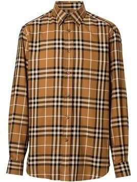 Burberry Vintage Check Cotton Flannel Shirt - Brown