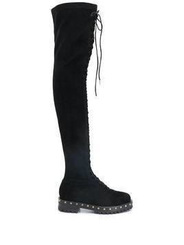 Le Silla stud-embellished thigh-high boots - Black