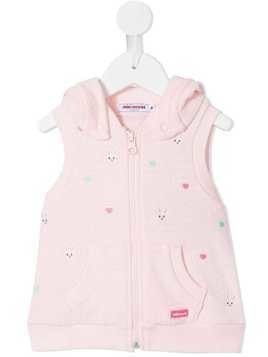 Miki House hooded zipped gilet - Pink