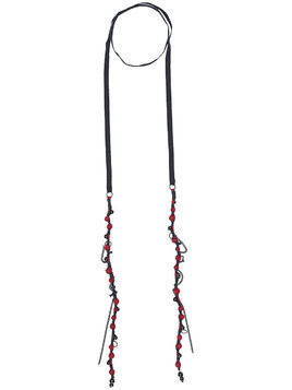 Ann Demeulemeester wrap-around beaded necklace - Black