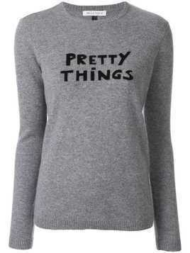 Bella Freud Pretty Things slogan sweater - Grey