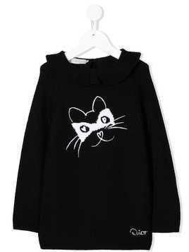 Baby Dior longline cat sweater - Black