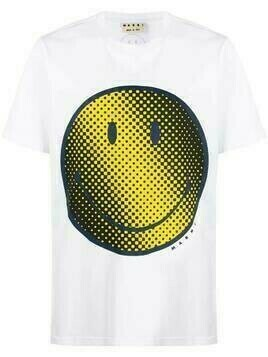 Marni smiley-face print T-shirt - White