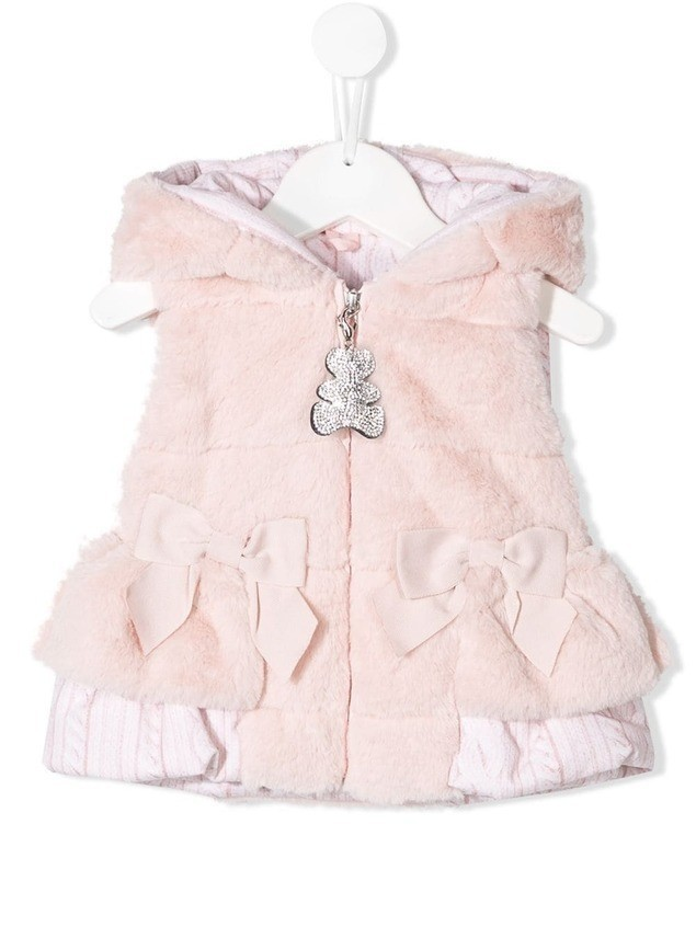 Lapin House bow detail gilet - PINK