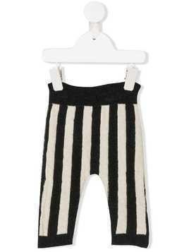 Emile Et Ida striped knit trousers - Grey