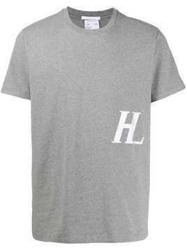 Helmut Lang embroidered logo T-shirt - Grey