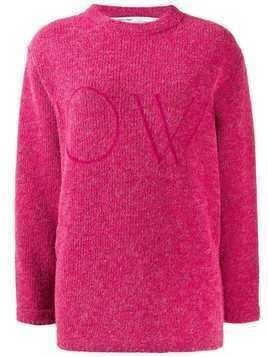 Off-White knitted jumper - PINK