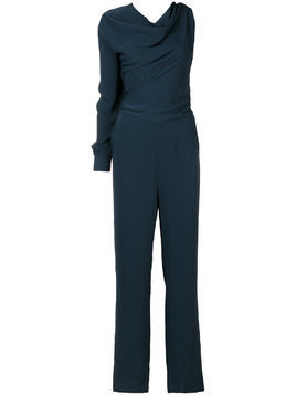 Mm6 Maison Margiela single sleeve drape neck jumpsuit - Blue