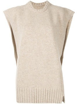 Maison Margiela sleeveless knitted top - NEUTRALS