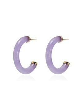 Loren Stewart Purple jade hoop earrings
