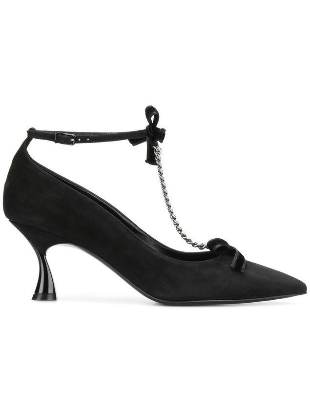 Casadei pointed chain pump - Black