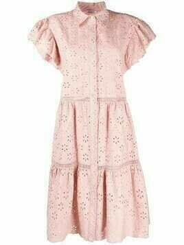 P.A.R.O.S.H. broderie-anglaise shirt dress - Pink