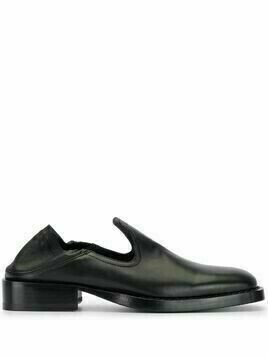 Ann Demeulemeester square toe loafers - Black