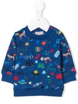Paul Smith Junior character print sweater - Blue