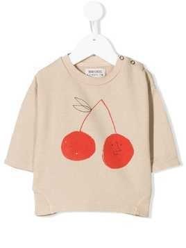 Bobo Choses cherry sweatshirt - Neutrals