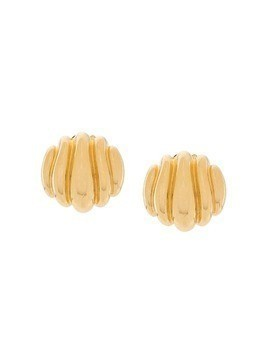 Susan Caplan Vintage 1980s Paolo Gucci clip-on earrings - GOLD