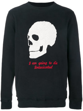 Intoxicated skull-embroidered sweatshirt - Black