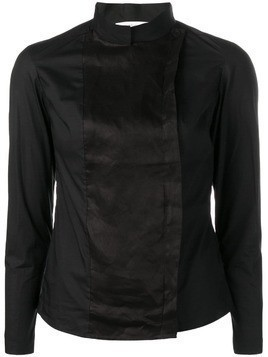 Gentry Portofino off-centre fastening shirt - Black