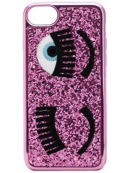 Chiara Ferragni iPhone S6/7/8 glitter Flirting case - Pink & Purple