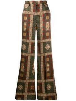Etro geometric print flared trousers